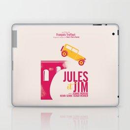 Jules et Jim, François Truffaut, minimal movie Poster, Jeanne Moreau, french film, nouvelle vague Laptop & iPad Skin