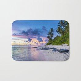 Picturesque Beach View (Color) Bath Mat