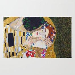The Kiss by Kustav Klimt - Version by Nymphainna Rug
