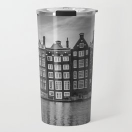 AMSTERDAM Damrak and dancing houses Travel Mug