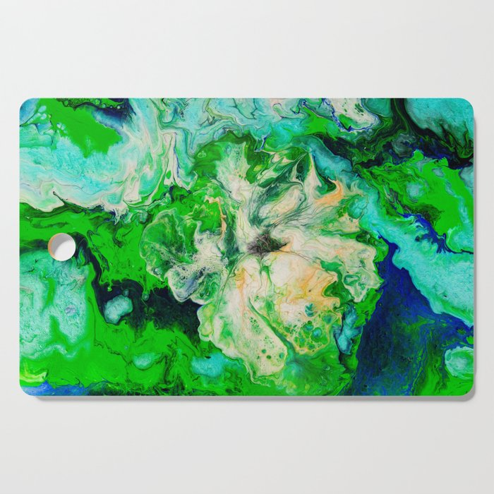 Hibiscus Flower Abstract Cutting Board