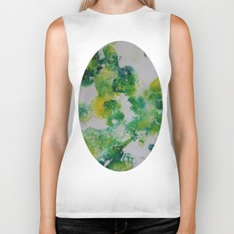 Its about space - in greens and yellows Biker Tank