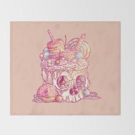 Skull No.3 // The Yummy One Throw Blanket