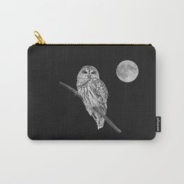 Owl, See the Moon (bw) Carry-All Pouch