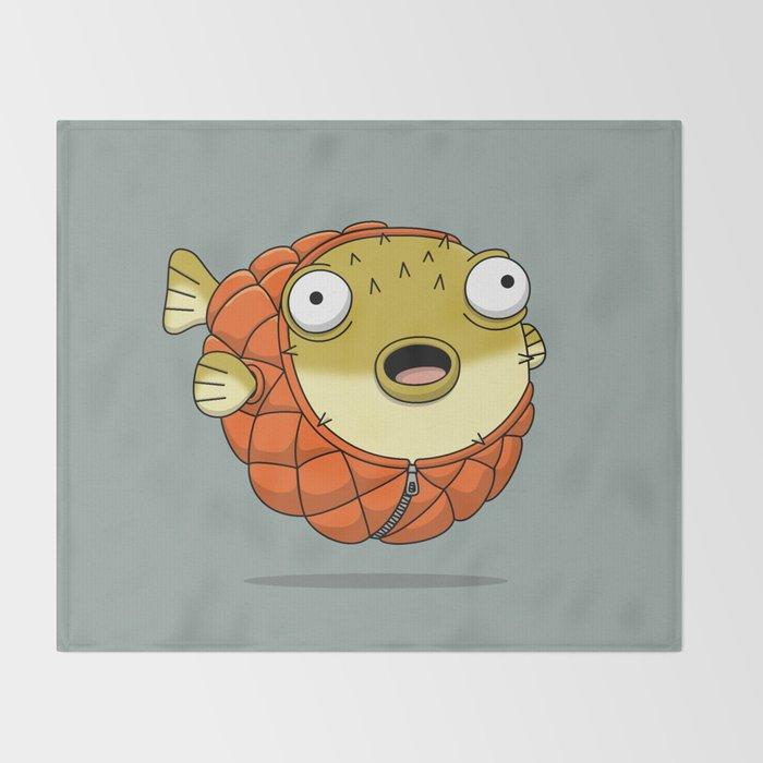 Puffer fish Throw Blanket