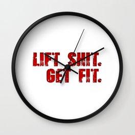 Lift Shit. Wall Clock
