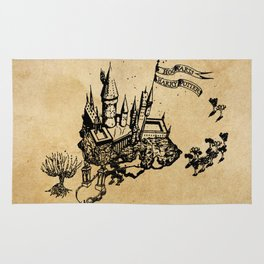 school of witchcraft and wizardry hogwarts simple Rug