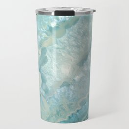 """Aquamarine Pastel and Teal Agate Crystal"" Travel Mug"