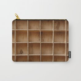 Empty wooden cabinet with cells Carry-All Pouch