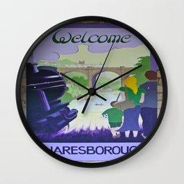Vintage poster - Knaresborough Wall Clock