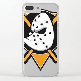 Anaheim Mighty Ducks orange triangle Clear iPhone Case