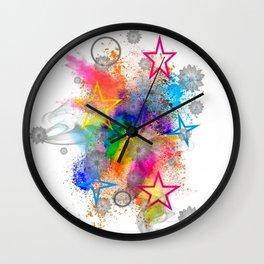 Color blobs by Nico Bielow Wall Clock