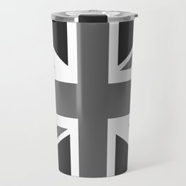 UK Flag - High Quality Authentic 1:2 scale in Grayscale Travel Mug
