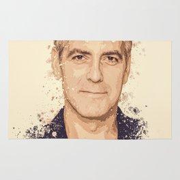 George Clooney splatter painting Rug