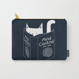 Mind Control For Cats (dark blue) Carry-All Pouch