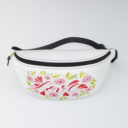 Love and roses - pink and red Fanny Pack