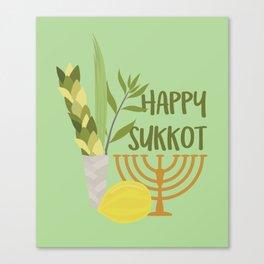 Sukkot Shalom Best Wishes for the Sukkot Holiday Canvas Print
