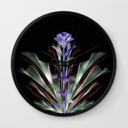 Abstract purple city chic flower bouquet Wall Clock