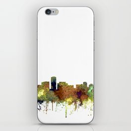 Long Beach, California Skyline - Safari Buff iPhone Skin