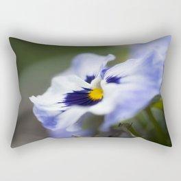Blue Pansy II Rectangular Pillow
