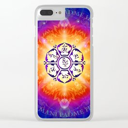 """""""Om Mani Padme Hum"""" - Embodiment of Compassion Clear iPhone Case"""