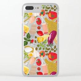 Fresh Italian Market Food Clear iPhone Case