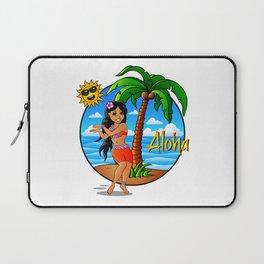 Hawaiian Girl Aloha Laptop Sleeve