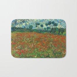 Vincent Van Gogh Poppy Field Bath Mat