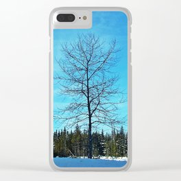 Alone and Leafless Clear iPhone Case