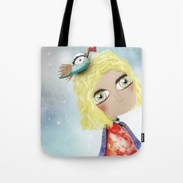 Kids Illustration Sky Stars Doll - Australia Home Decor - Clothing - Ruth Fitta-Schulz Art 2018 Tote Bag