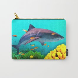 Shark in the water Carry-All Pouch