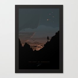 Twilight Of Darkness BLUE Canvas Print