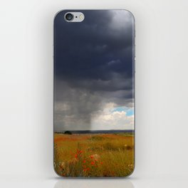 The Unexpected Poppy Field Storm of Spain iPhone Skin