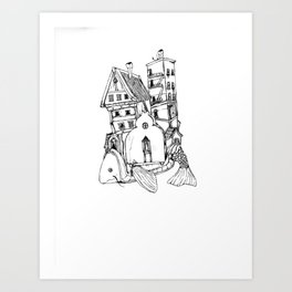 Home On A Fish Art Print