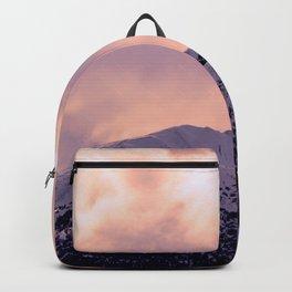 Kenai Mts Bathed in Serenity Rose Backpack