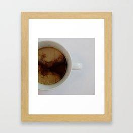 Clouds in my Coffee Framed Art Print