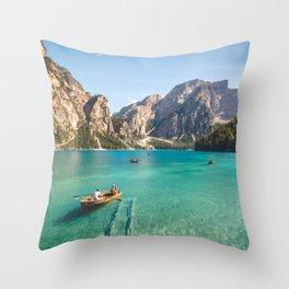 Mountain Adventures Throw Pillow