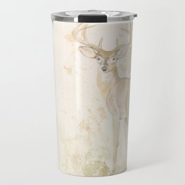 Deer and butterfly Travel Mug