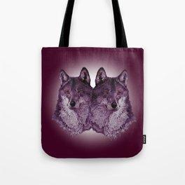 Season of the Wolf - Duet in Magenta Tote Bag