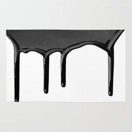 Black paint drip Rug