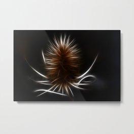 Abstract teazle Metal Print