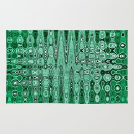 Abstract Pattern In Green. Rug