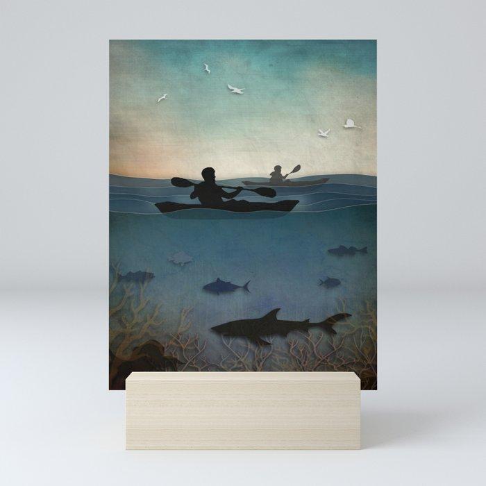 Sea Kayaking Mini Art Print