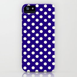 Polka Dot Party in Blue and White iPhone Case