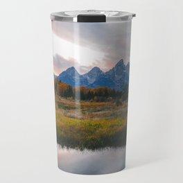 Grand Teton Sunset Travel Mug