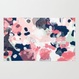 Hayes - abstract painting minimal trendy colors nursery baby decor office art Rug