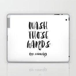 Wash those hands Toilet sign Bathroom rules INSTANT DOWNLOAD Kids wall art Loo sign Washroom sign Ba Laptop & iPad Skin