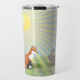 fox and bunny Travel Mug