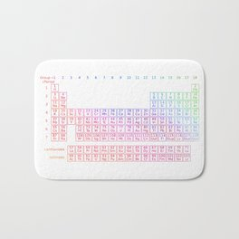 Rainbow Periodic Table Bath Mat
