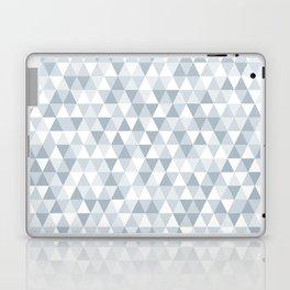 shades of ice gray triangles pattern Laptop & iPad Skin